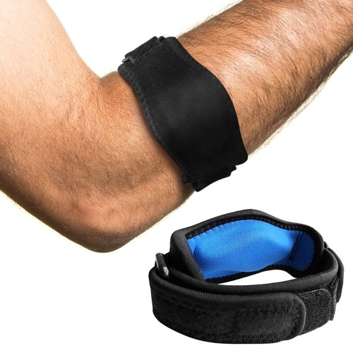 Verstellbare Ellbogenstütze Tennisellenbogenstütze Wickel Ellenbogen Unterarmgürtel Ellenbogenschutz für Tennisellenbogen Arthritis Schmerzlinderung