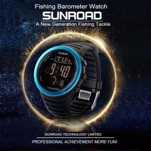 Sunroad Digital Pesca del reloj del barómetro del termómetro del altímetro pronóstico del reloj multifuncional
