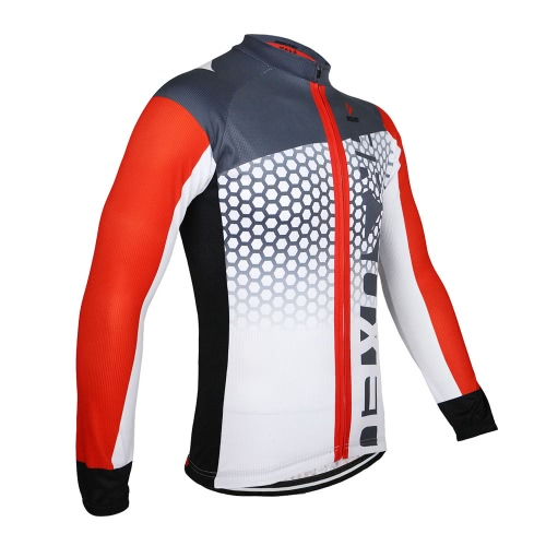 ARSUXEO Men's Cycling Jersey Bike Bicycle Long Sleeves MTB Jersey Clothing Shirts