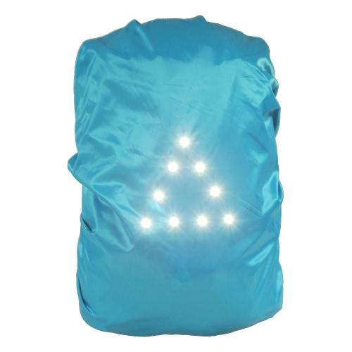 9LED безопасности безопасности водонепроницаемый рюкзак сумка дождевик 30-40L