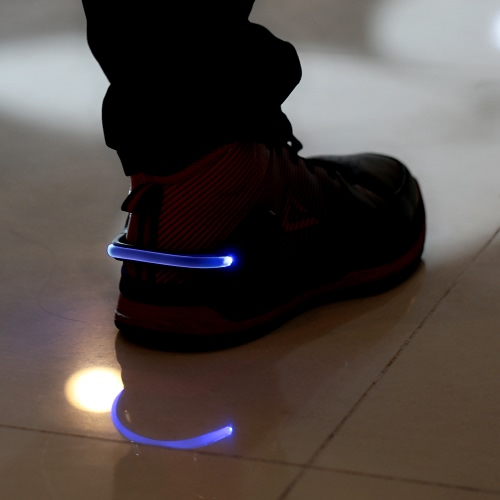 Deportes al aire libre LED seguridad zapatos Clip de noche caminar correr bicicleta