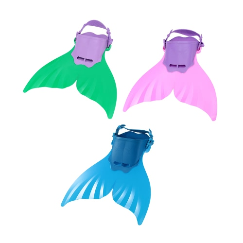 Docooler Kid Children Mermaid Swim Fin Diving Monofin Swimming Foot Flipper