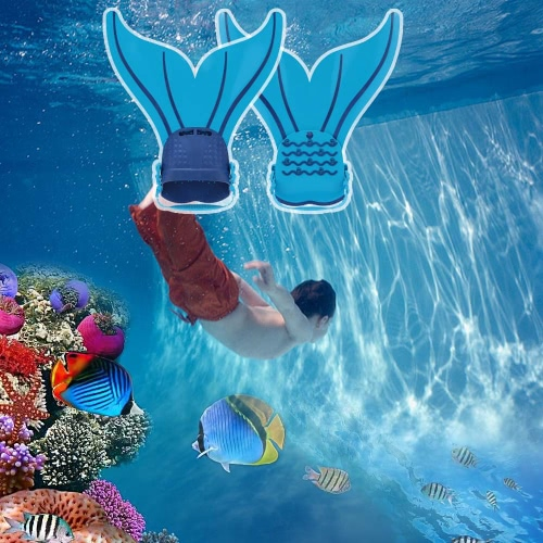 Kind Kinder Mermaid Swim Fin Tauchen Monoflosse Schwimmen Fuß Flipper