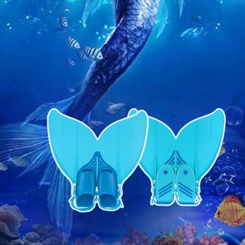 Adolescente sirena nuotare Fin Diving monopinna nuoto piede Flipper