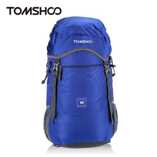 TOMSHOO 40L Ultra leve de Nylon resistente à água ao ar livre mochila viagens caminhadas Bolsa dobravel