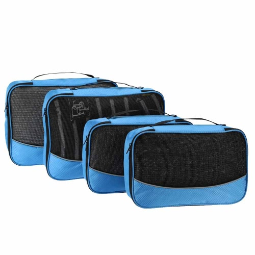 TOMSHOO 4pcs Packing Cubes Clothing Organizer Travel Kit Bags Storage Bags