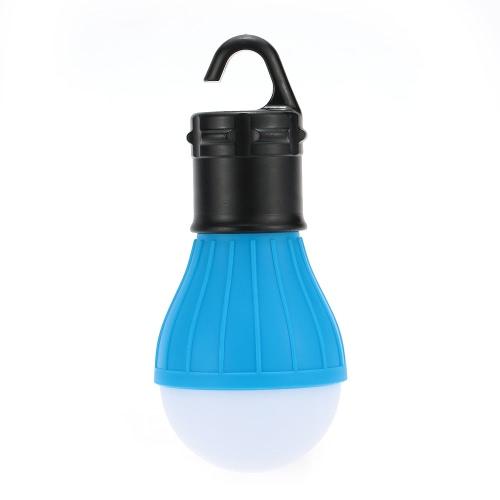 1 unid al aire libre que cuelga 3 luces LED que acampa bulbo de la tienda lámpara de la linterna de la pesca portátil