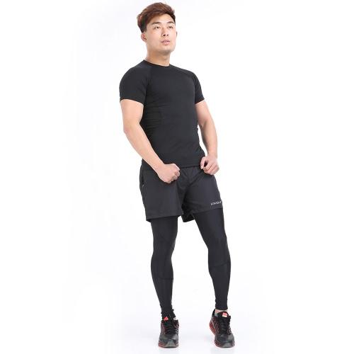 Lixada hombres transpirable y absorbente de sudor deportes ocio Shorts cortos para correr gimnasio