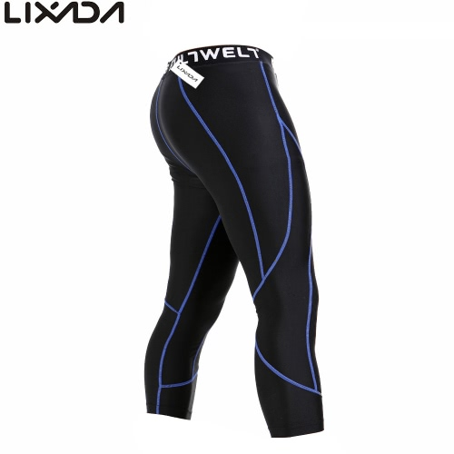 Lixada Men Quick Drying Breathable Sports Tights Compression Base Under Layer Pants for Workout Fitness