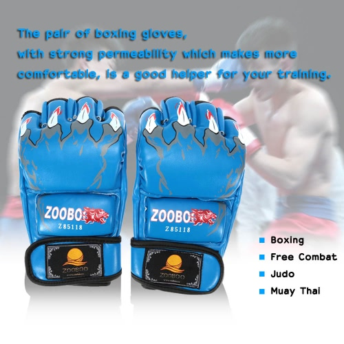 半分指ボクシング手袋 Kung の Fu の戦いムエタイ タイの格闘技