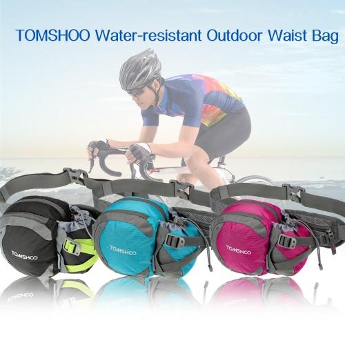 TOMSHOO cintura al aire libre resistente al agua bolsa Deportes paquete de la cintura con el sostenedor de botella de agua (no incluido) para caminar correr bicicleta viajes de escalada Camping