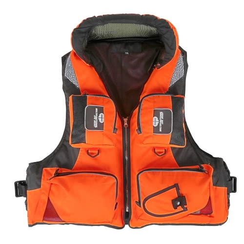 Professional Fishing Polyester Adult Safety Life Jacket Survival Vest Swimming Boating Drifting
