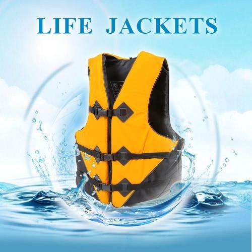 Lixada profissional poliéster adulto colete salva-vidas sobrevivência Tornozele natação, passeios de barco à deriva com apito de emergência