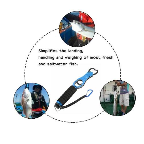 Портативный рыбы губ Grabber захвата ручка из нержавеющей стали рыбалка Gear рыбы держатель с масштаба 40 фунтов