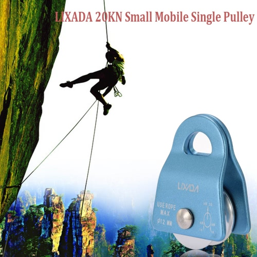 Lixada 20KN Small Mobile Single Pulley Swing Side Climbing Rigging Rescue