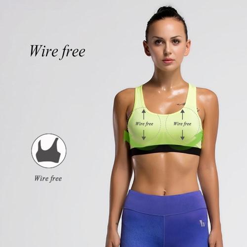 Reggiseno sportivo copertura completa a spalle scoperte imbottita rimovibile Wire libero QuickDry esecuzione di yoga della biancheria intima delle donne