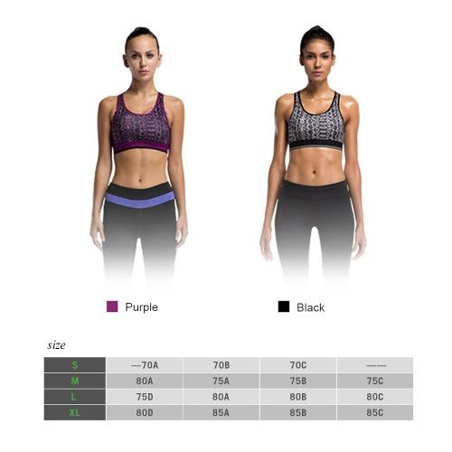 Sujetador de los deportes de cobertura total Scoop extraíble acolchado alambre libre de secado rápido de la ropa interior de Ejecución de la yoga de las mujeres
