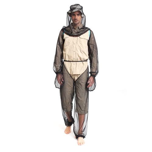 Lixada Leichte Sommer Bug tragen Mosquito Anzug Kopf Net Ärmel Hosen für Männer Frauen mit ultra-feinen Netz Wandern Angeln Camping Bee Fütterung Radfahren