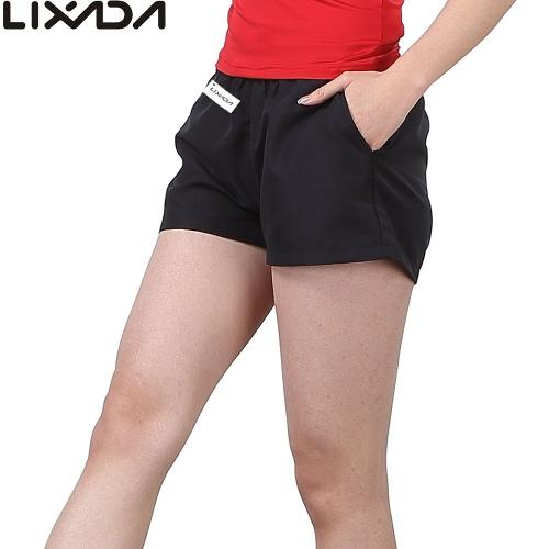 Lixada mujeres transpirable y absorbente de sudor deportes cortos ocio pantalones cortos para correr gimnasio Yoga