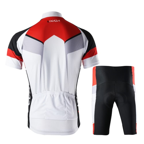 Men Breathable Quick Dry Comfortable Short Sleeve Jersey + Padded Shorts Cycling Clothing Set Riding Sportswear Image
