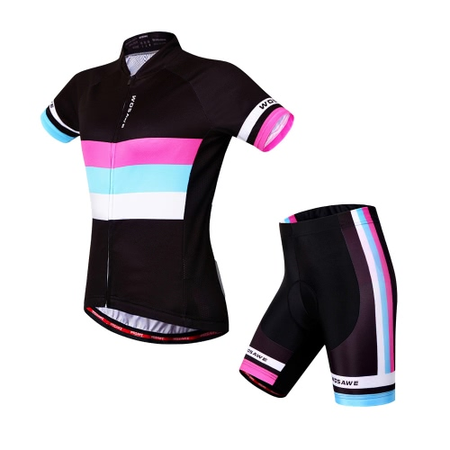 49d28a7fa Women Breathable Comfortable Short Sleeve Padded Shorts Cycling Clothing  Set Riding Sportswear - US 26.69 Sales Online l - Tomtop