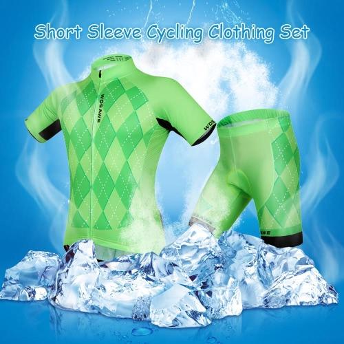Unisex manga corta cómoda transpirable acolchadas Shorts ropa de ciclo conjunto ropa del montar a caballo