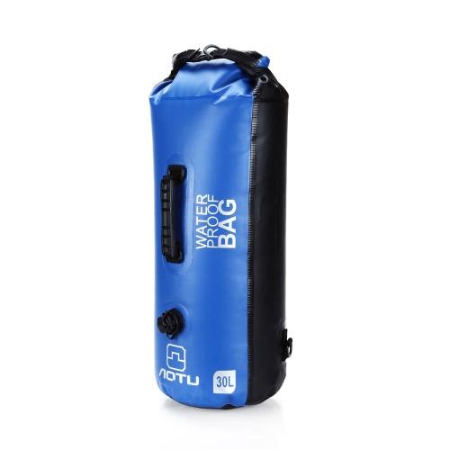 30L all'aperto impermeabile Dry Bag Zaino Storage Bag per viaggiare Rafting Canottaggio Kayak canoa Campeggio
