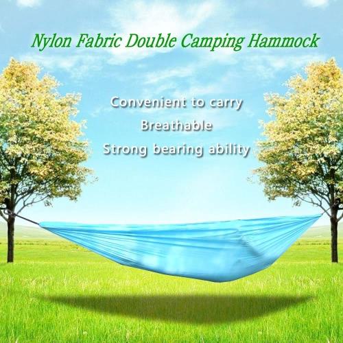 Lixada portátil compacto durable tela de nylon que viaja que acampa de la hamaca para dos personas