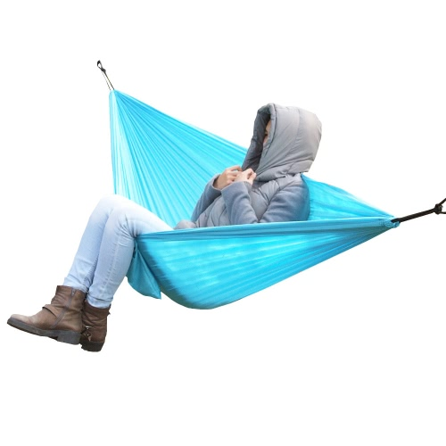 Lixada Portable Durable Compact Nylon Fabric Traveling Camping Hammock for Two Persons фото