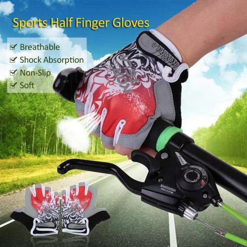 Sport guanti mezzi della barretta che corre la corsa su strada i guanti del motore della bici di riciclaggio della bicicletta