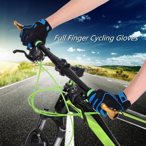 Полный Finger перчатки Спортивные перчатки Скалолазание Спортивный езда дорожный велосипед Мотор Велоспорт