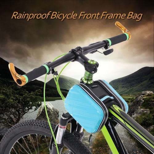 Lixada непромокаемые Открытый Велоспорт Туризм езда дорожный велосипед MTB City велосипед Передняя рамка сумка пакет двойной мешок Передняя труба сумка