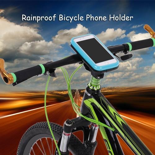 Lixada prueba de lluvia de la motocicleta de la bicicleta del montaje del manillar caso titular durante 5,5 Celulares