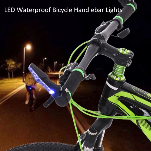 Bici della bicicletta Manubrio Bar End Lights impermeabile LED che avverte la lampada della luce MTB racing Andare in bicicletta Bar Luci riflettenti Nocturnal Lights