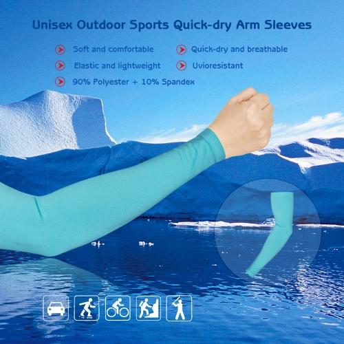 Unisex Outdoor Sports asciugatura rapida traspirante manicotti del braccio Sun-resistenti manicotti di protezione del braccio di Ciclismo & running Bicicletta