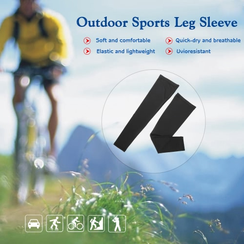 Outdoor Cycling Leg Sleeve Sports Knee Protector Brace Breathable Anti-UV Basketball Football Running Jogging Quick Dry Leg Sleeve Knee Support