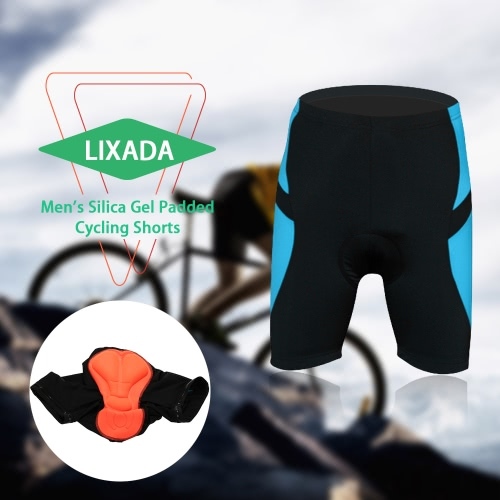 Pantalones Pantalones cortos de ciclista de la bicicleta del gel de silicona acolchada cortos de los hombres de Lixada