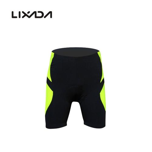LIXADAメンズサイクリングショーツ自転車自転車シリカゲルのパッド入りショートパンツ