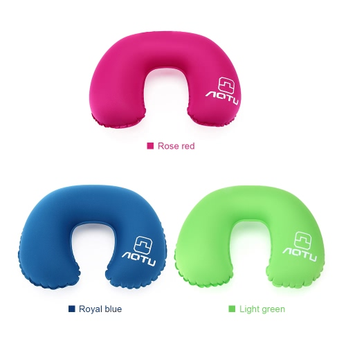 Neck Pillow Head Chin Neck Support Inflatable Soft Comfortable Travel Pillow