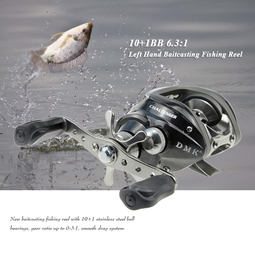 10 + 1BB 6.3: 1 Left / Right Hand Мультипликаторы Рыбалка Reel Bait Casting Baitcast Reel Рыбалка Колесо рыболовные снасти