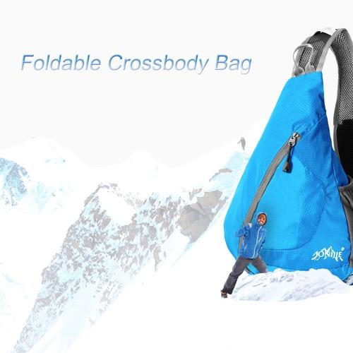 Packable spalla zaino del sacchetto della copertura pieghevole Sling Busto CrossBody pacchetto Zaino per sport della bicicletta il viaggio trekking campeggio Bookbag Uomini Donne