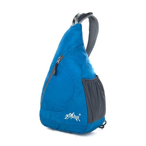 Stopfbarer Schulter-Rucksack-Folding Sling Chest Umhängetasche Cover Pack Rucksack für Fahrrad-Sport-Wandern Reisen Camping Bookbag Männer Frauen