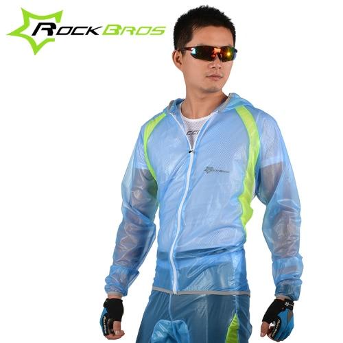 ROCKBROS traspirante ultra-sottile unisex della bici della bicicletta Escursionismo MTB Giacca a vento del vestito rivestimento della tuta sportiva Pantaloni Outdoor Sports Wet Meteo ingranaggi