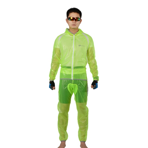 ROCKBROS Breathable Ultra-thin Unisex Bicycle Bike Hiking MTB Raincoat Suit Jacket Outerwear Pants Outdoor Sports Wet Weather Gear
