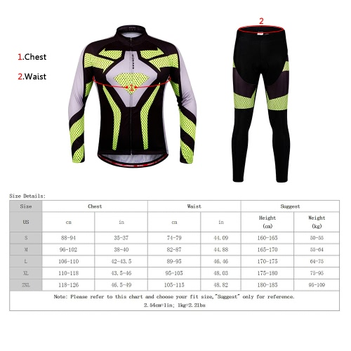 WOSAWE? Quick Dry Breathable Bike Bicycle Mountain Biking Unisex Cycling Jersey Pants Tights Clothing Sets Suits Long Sleeve Outdoor Sports Image