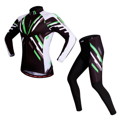 WOSAWE® Quick-dry Stretchy Unisex Mountain Biking Cycling Long Sleeve Jersey Pants Bicycle Tights Clothing Sets Suits Outdoor Sports Bike Racing