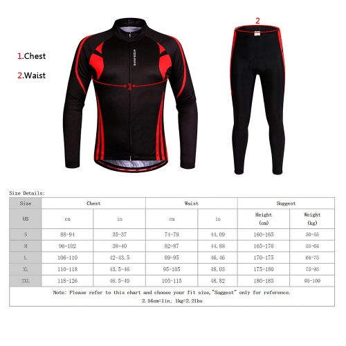 WOSAWE? Unisex Breathable Quick-dry Cycling Full-zip Long Sleeve Jersey Pants Bicycle Clothing Sets Suits Bike Racing Mountain Biking Outdoor Sports Image
