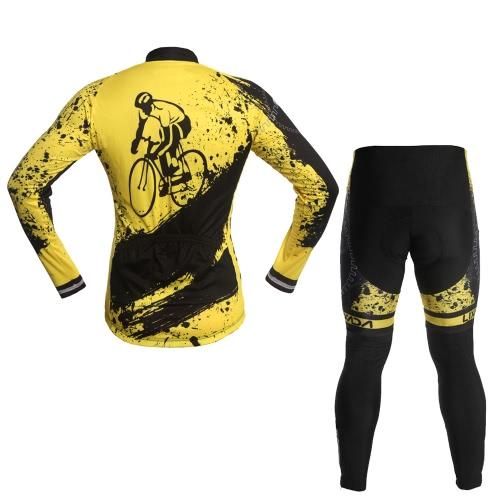 Lixada Unisex traspirante manica lunga confortevole pantaloni imbottiti vestiti di riciclaggio Set equitazione sportivo