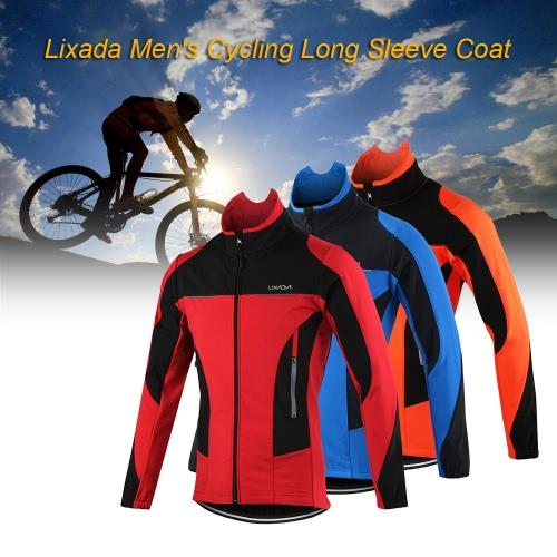Lixada Мужская Открытый Велоспорт куртка Зимняя Термальная Дышащие Удобная с длинным рукавом пальто водостойкой езда Спортивная одежда