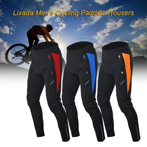 Bicicletta Lixada uomini pantaloni invernali termici traspiranti pantaloni comodi con cuscino imbottito di guida sportivo